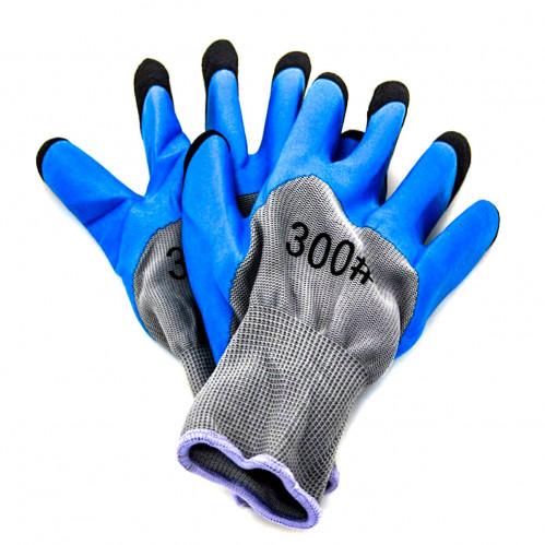 Перчатки №Х-2 нейлон. сине-коричневые 50гр (720)