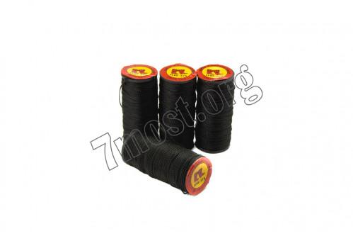Нитки №375-2 чёрные капрон. (1мм*40м) (500)