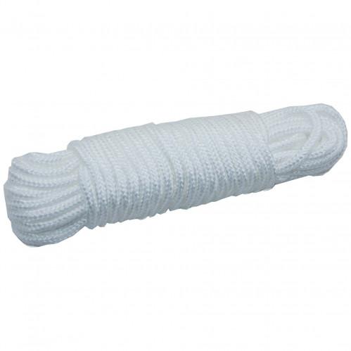 Верёвка хоз. №W6-10Y бел. диам. 6мм нейлон (200)