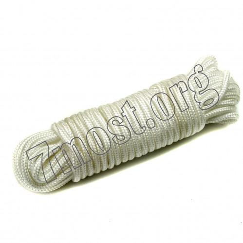 Верёвка хоз. №W8-10Y бел. диам. 8мм (120)
