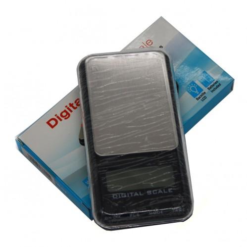 Весы №DG-01 как мобил. с рез, кнопками (0,1-1000)гр цифр. в голуб. кор. (1.5*6,5*11,6)см (100)