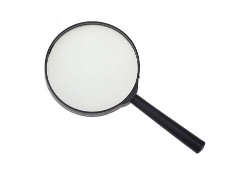 Лупа №90-1 пл. чёр. руч. 90мм в бум. кор. (1,9*9,5*18,7)см (200)