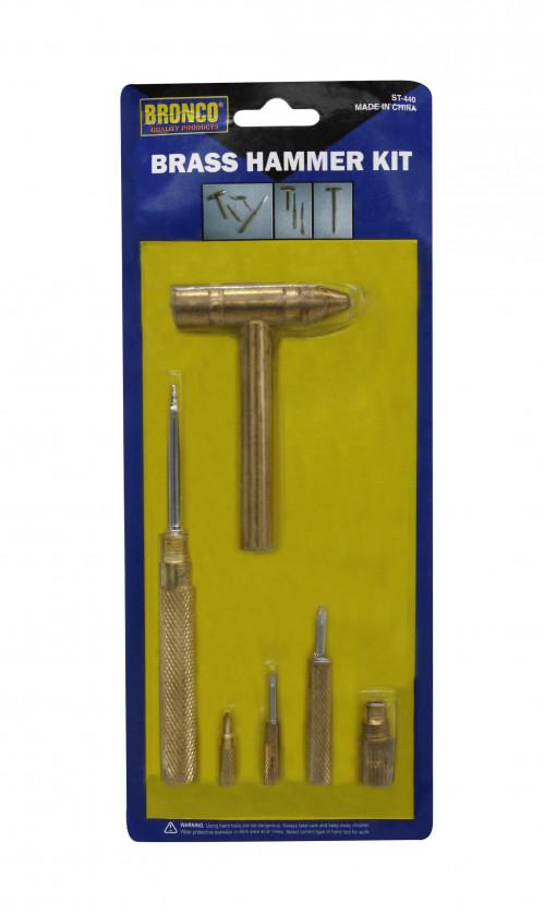 Набор №ST-440 на листе 5 отвёрток + 1молоток  (120)