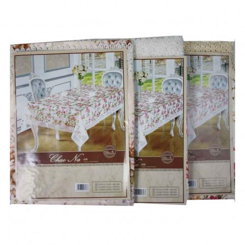 Скатерть №А5-1 синтетика цветная кружева (120*150)см (43)