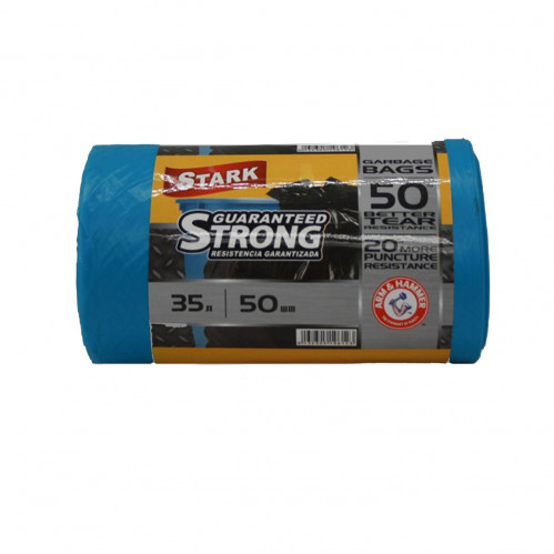 Пакет Stark №35*50 синий 35л в рул. 50шт (30)