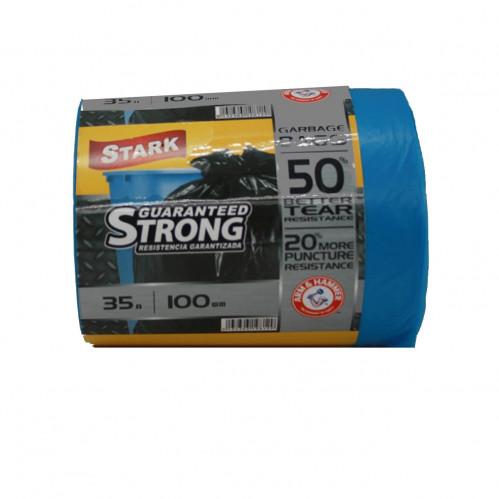 Пакет Stark №35*100 синий 35л в рул. 100шт (15)