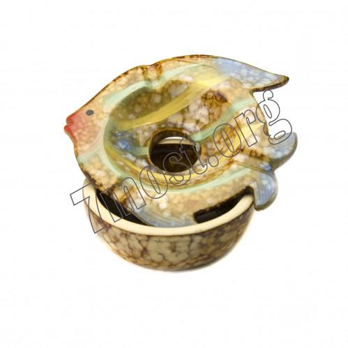 Пепельница №GH263 фарф рыба 6вид 9,5см (48)