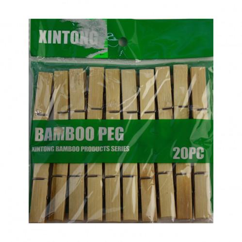 Прищепка №Z-20 бамбук 20шт в кл. 6см (250)