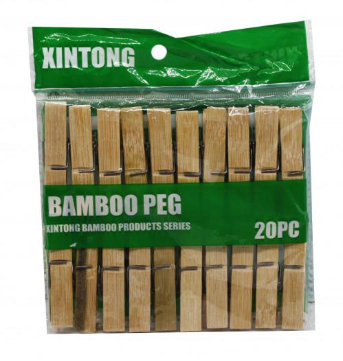 Прищепка №Z-20-70 (Z-20) бамбук 20шт в кл. 6см (250)