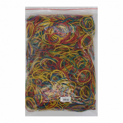 Резинка д/денег №С-4-38-500 цветная 4цв 38разм. 500гр в кл. (40)