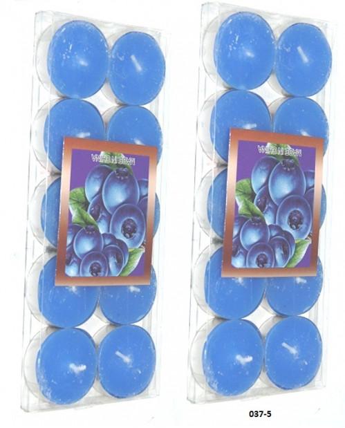 Свечи №037-5 кругл 5цв 3,6см 10шт 105гр в пл пач (100)