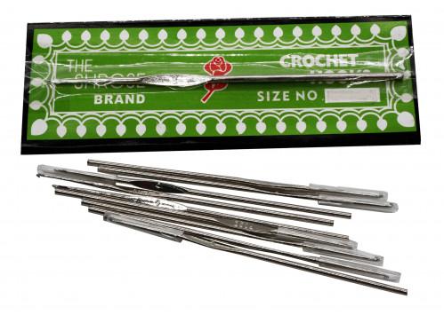 Спицы №0-11 метал. для вязания длина 11,8см диам 2-4-6-8 (3600)