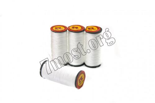 Нитки №375-1 белые капрон. (1мм*40м) (500)