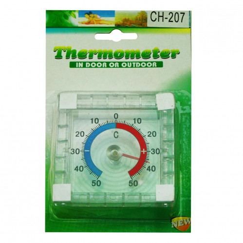 Термометр №СН-207 пл. ул. квадр. (2,4*7,7*7,7)см на листе (180)