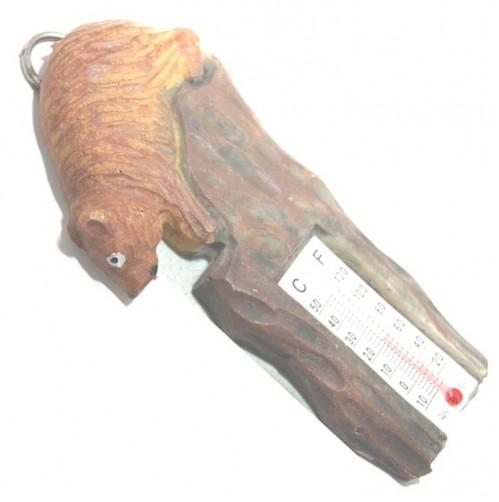Термометр №СН-3012 смола фигурой животного корич. (480)