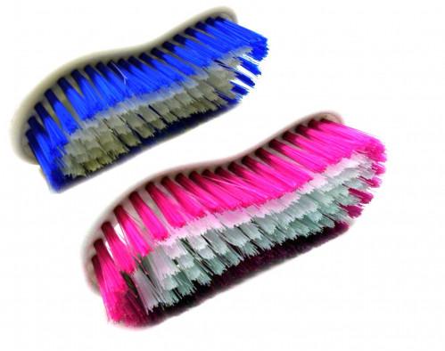 Щётка №2168 для одежды пл. овал. бол. (3,5*6,5*15)см 2цв в кл. (120)