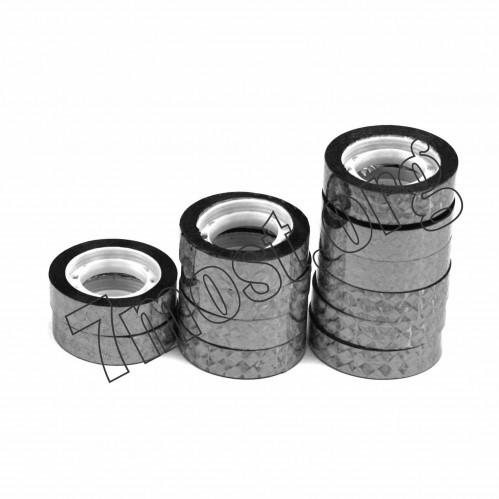 Скотч канц. №012-10-S канц. блест. 12шт в ср. пач. (0,12*10)м серебро (1200)