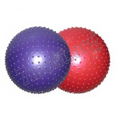Мяч №60-900МР PVC-шипами массаж-4цв.д-60см-900гр (30)