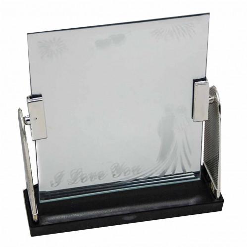 Зеркало №168D пл прямоуг с надп. и рис чёрнобел сред (60)