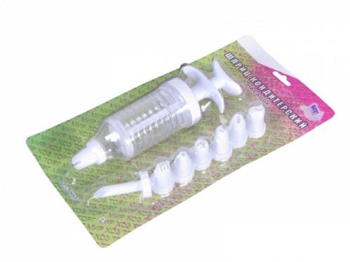 Шприц №DC-16 (№1501) кондитерский с насадками 8шт на листе (144)