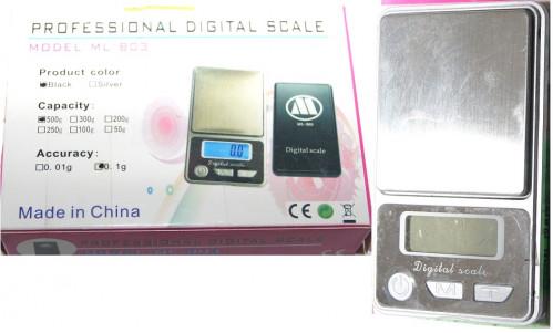 Весы №ML-B03 цифр. д/золота 500гр прямоуг (2*5,8*10)см (100)