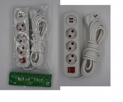 Удлинитель №305 с USB 5м (60)