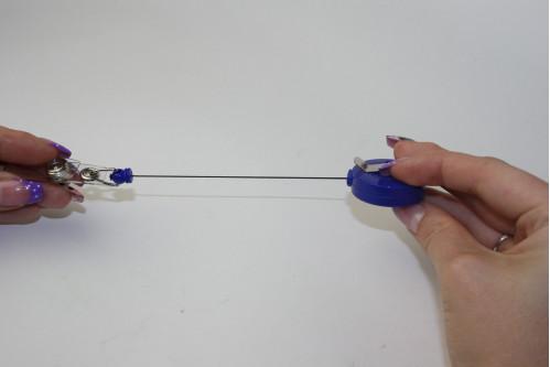 Брелок д/ключ. №В-60 с ниткой роз/син 60см (1000)