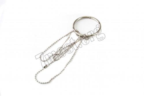 Волшебное кольцо №ВК-9 с цепоч мет бол 5см на листе 20наб (1000)