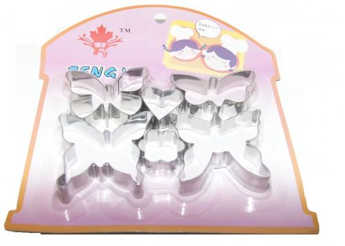 Форма №МЛ-С002 для печенья 6 бабоч мет на листе (80)