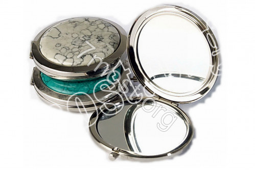 Зеркало №3К-1 скл. кругл. с увел. 5цв под мрамор 70*7мм в короб (200)
