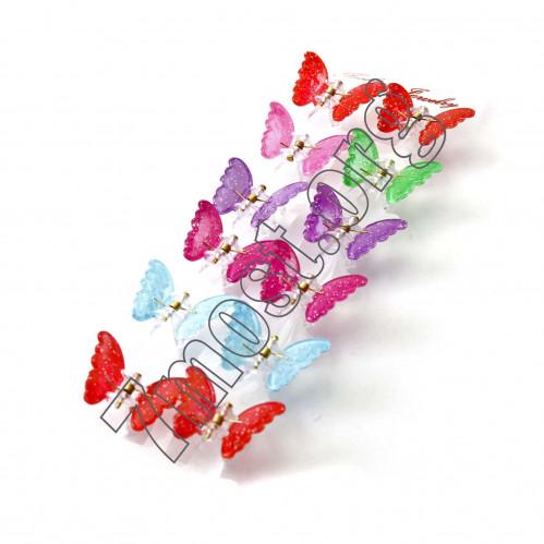 Заколки №3724-19 жабка бабоч мини цвет микс (2880/12)