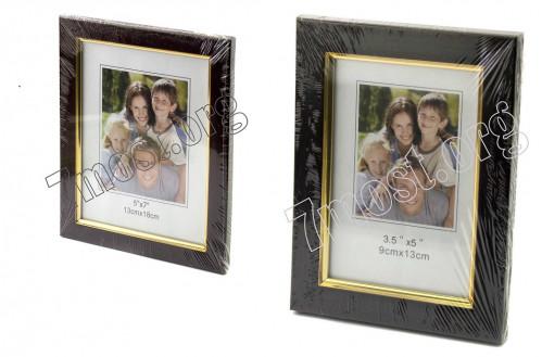Рамки д/фото №037-3 пл. +стекло с подст. 2цв (13*18)см (100)