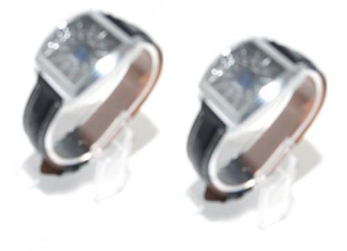 Часы д/руки №G-6 мужские с кожзам ремень и бат корич+чёр цв (300)