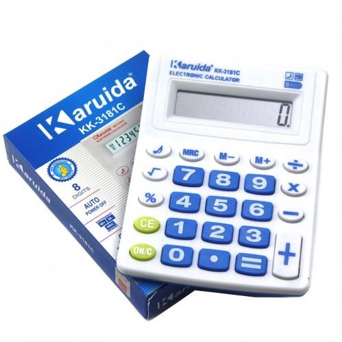 Калькулятор №kk-3181C 8цифр 1AG10 в кор. 4цв (3,2*9,8*12,6)см (240)
