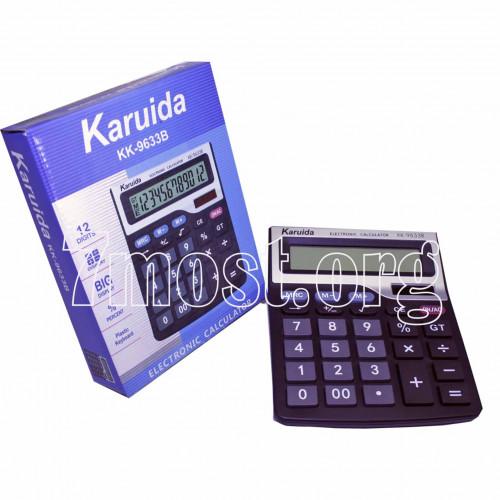 Калькулятор №KK-9633B бол. 12цифр чёр. 1R6 (4,8*15*19,2)см (80)