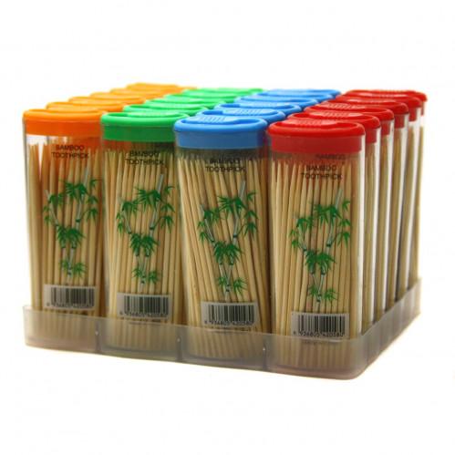 Зубочистки бамб. №0051 80шт форма зажигалки с рис. бамбук с кодом (1152)