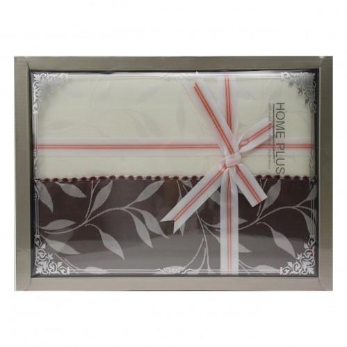 Скатерть №D13 Коричневые листы (152*220)см (14)