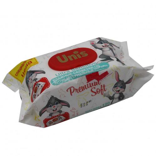 Салфетки влаж. Лили №С-50 (С-50-1) без запаха Детская с клапаном 120шт в пач. UNIS (8)