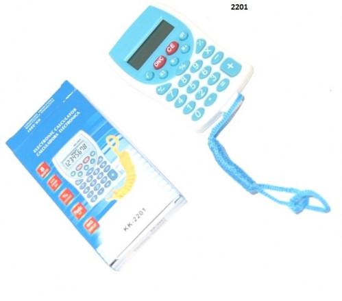 Калькулятор №2201 пласт микро 2цв с верев (1*5,7*10,1)см в бум кор (500)