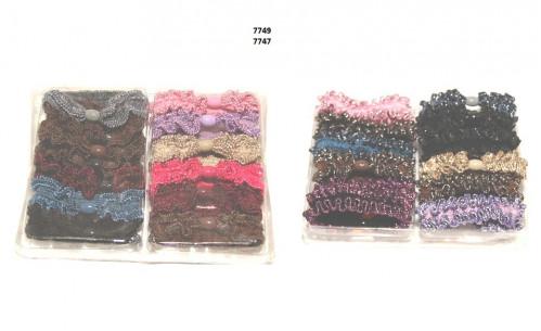 Резинка д/волос №7749 12шт в прозр пач (200)