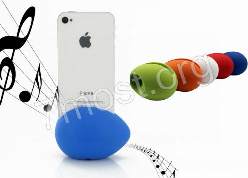 Громкоговоритель №ГЦ-2 силик д/айфона как яйцо (5*8)см 4цв в бум пл короб (100)