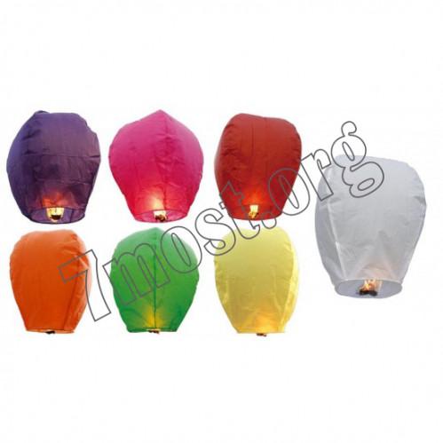 Неб. фонарик желания №Н-2 6цв овал. (90*50)см в прозр кл (400)