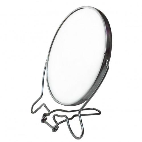 Зеркало №ЗМК-6 мет. с увел. 2стор. круг. сереб. цвет мал. (96)