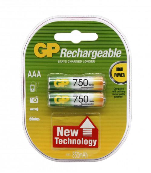 Аккумулятор AAA GP750 Eco Power (200/20)