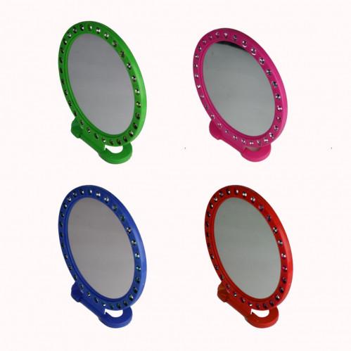Зеркало №205 (№205-1) пл. круг. с камнями 3цв бол. (120)