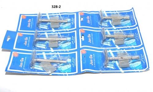 Станок №318-1 д/бритья мет сереб цв с лезв на листе 6шт бол (240)