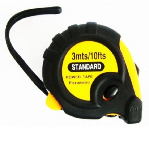 Рулетка STANDARD №А97 металопл. 5м бел. с магн. в пач. 12шт (120)