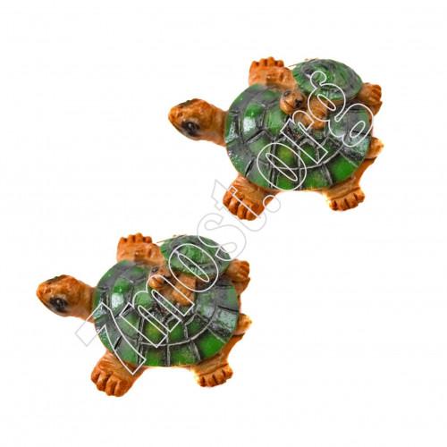 Магнит-черепаха №1016 полирезин. 4вид (4*2,5*1)см зелён. цвет 24шт в кор. (600)