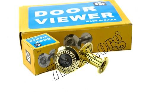 Глазок-видио д/двери пл. зол. 200град. толщ. двери 33-55мм №ZP-205 (288)