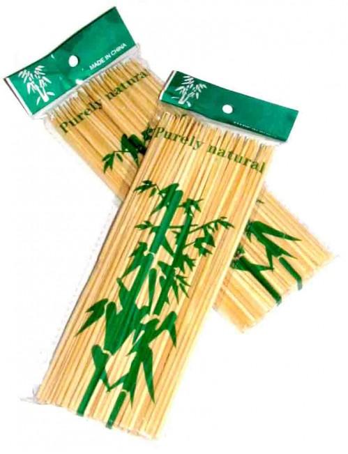Палочка бамб. д/шашлыка 25см №пв-25 (№ПБ-25) 90шт в кл. с кодом (200)